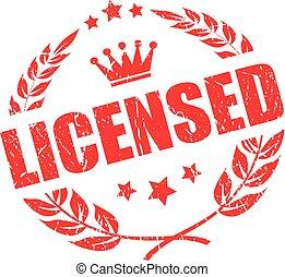selo, produto, vetorial, licenciado