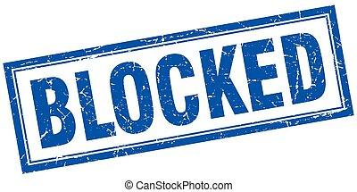 selo, quadrado, bloqueado