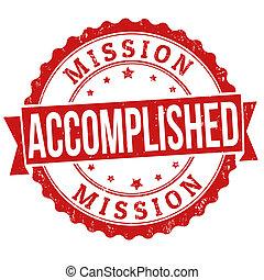 selo, realizado, missão