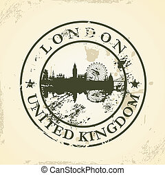 selo, reino, unidas, londres