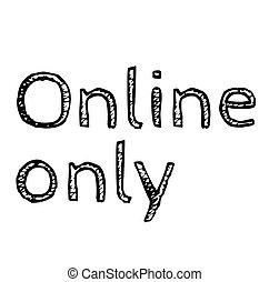 selo, só, fundo branco, online