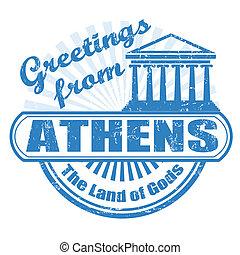 selo, saudações, Atenas
