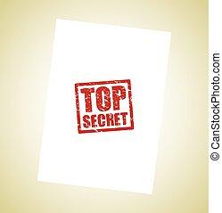 selo, segredo superior, ícone