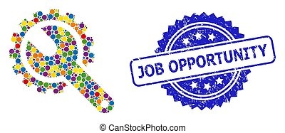 selo, selo, angústia, oportunidade, colorido, colagem, trabalho, reparar, ferramentas