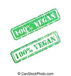 selo, sinal., vegan