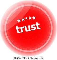 selo, sobre, borracha, fundo, branca, confiança, vermelho