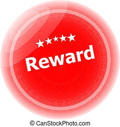 selo, sobre, borracha, fundo, branca, recompensa, vermelho