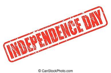 selo, texto, dia, independência, vermelho