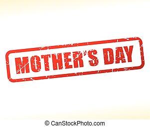 selo, texto, dia, mães