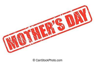 selo, texto, dia, vermelho, mães