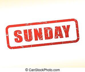 selo, texto, domingo, vermelho