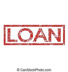 selo, texto, empréstimo