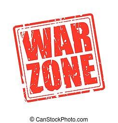 selo, texto, guerra, zona, vermelho