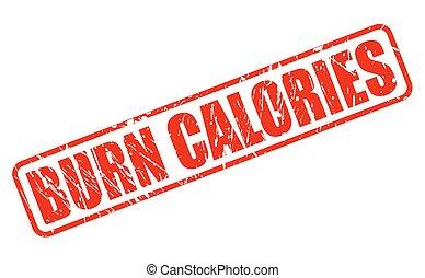selo, texto, queimadura, calorias, vermelho