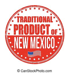 selo, tradicional, produto, novo méxico