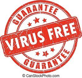 selo, vírus, vetorial, livre