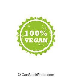 selo, vegan, sinal