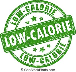 selo, vetorial, low-calorie