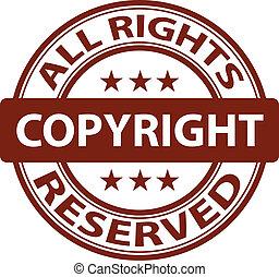 selo, vetorial, puro, direitos autorais