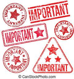 selos borracha, importante
