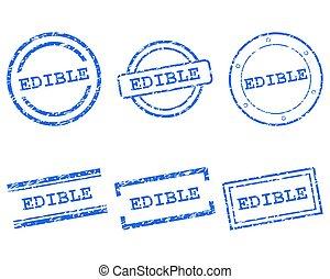 selos, comestível