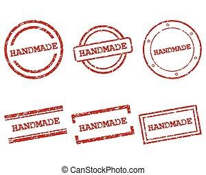 selos, feito à mão