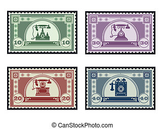 selos taxa postal