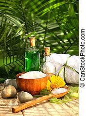 sels bain, et, huiles essentielles