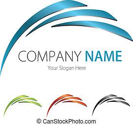 selskab, (business), logo, konstruktion