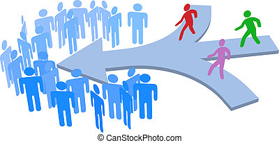 selskab, sociale, sammenvokse, folk, hold
