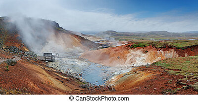 Geaothermal area Seltun near Krysuvik - Iceland