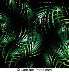 selva, noturna, fundo