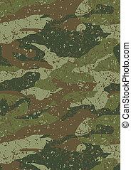 selva, pattern., barro, camuflaje