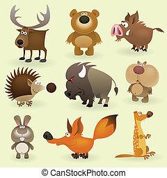selvagem, #2, jogo, animais