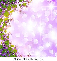selvagem, borda, violeta