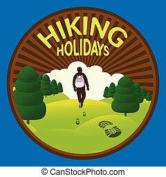 selvagem, hiking, natureza