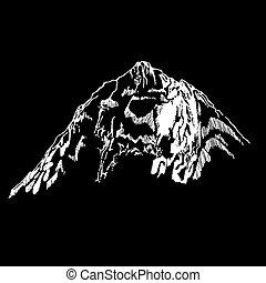 selvagem, montanha, norte, paisagem, natureza