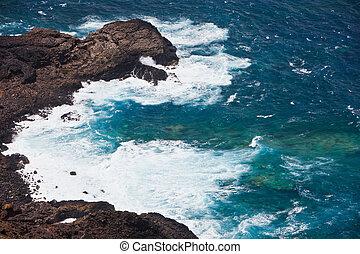 selvagem, oceânicos, pedras praia