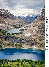 selvagem, paisagem, alcance montanha, vista, alberta, canadá