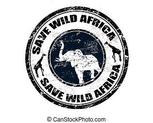 selvagem, selo, salvar, áfrica