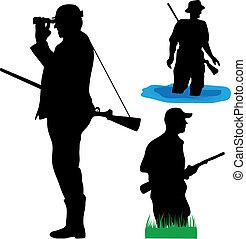 selvatico, cacciatori, animali