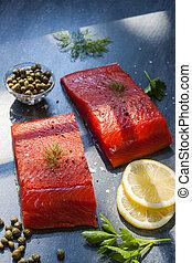 selvatico, salmone
