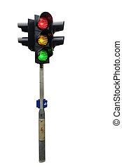 semáforo, isolado