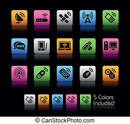 sem fios, &, communications/, colorbox