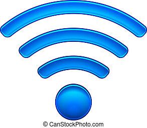 sem fios, rede, símbolo, wifi, ícone