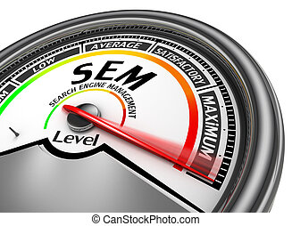 Sem level conceptual meter indicate maximum