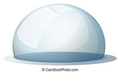sem, suporte, cúpula
