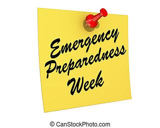 semaine, état préparation, urgence