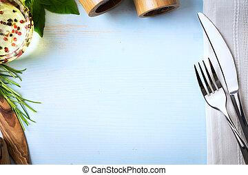 semaine, art, restaurant, nourriture, menu, fait maison, arrière-plan;, italien