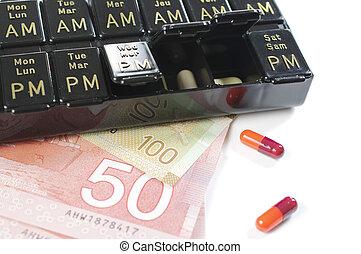 semaine, pillbox, jours